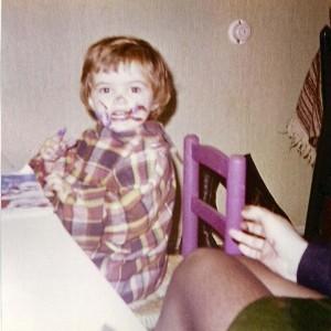 Janet Edens op jonge leeftijd was ik al druk met schilderen
