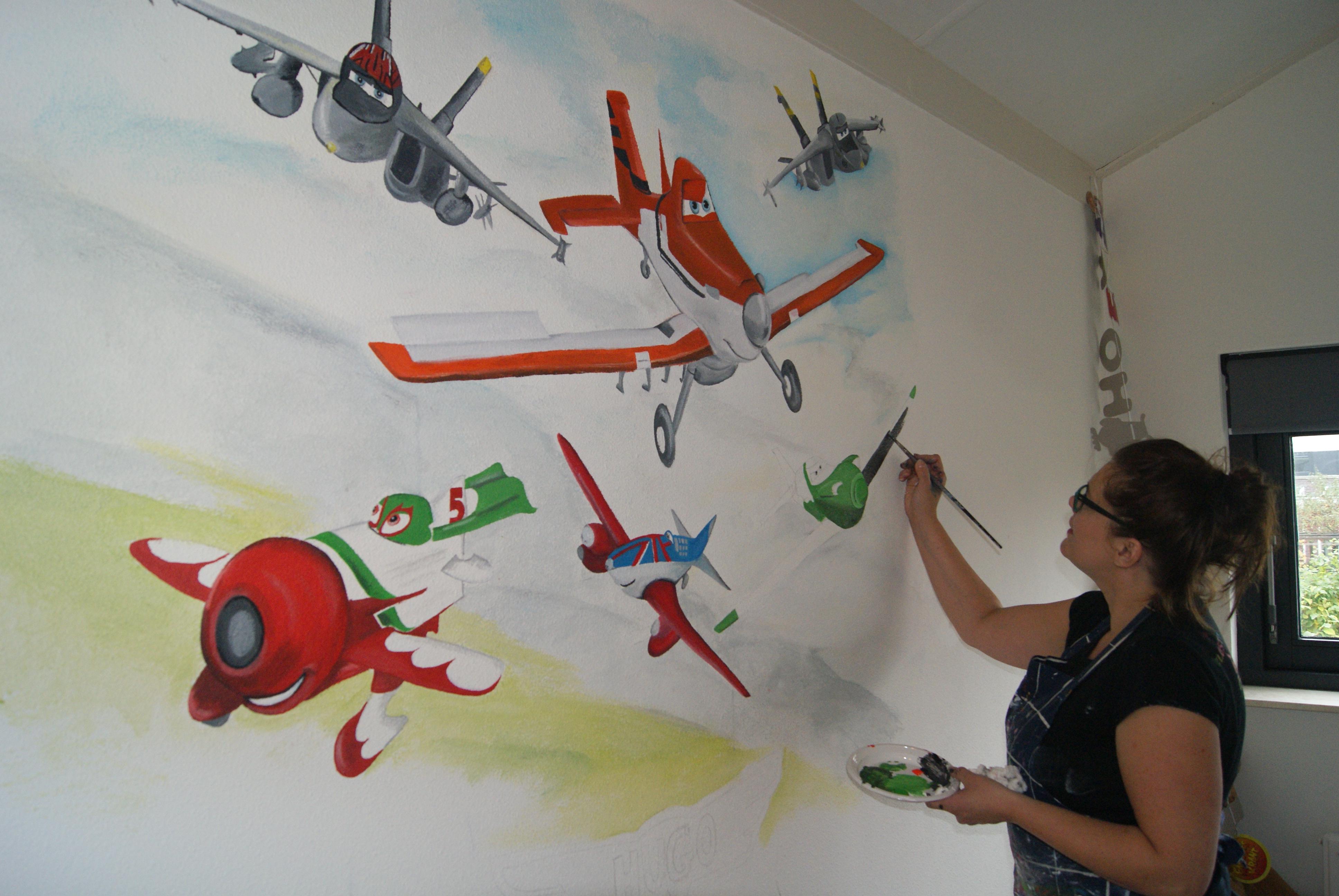 Muurschilderingen Voor Slaapkamer : muurschilderingen Disney Planes op ...
