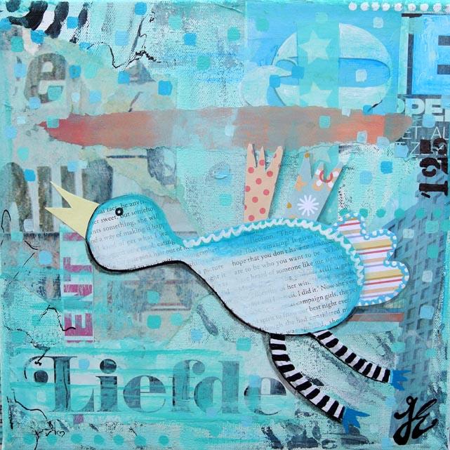 geboortekaartje kunstkaart ook op maat gemaakt janet edens hip uniek kunst