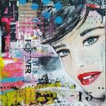workshop mixed media portret schilderen Janet Edens Groningen