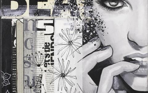 vrouwengezicht - zwartwit-kunst-janetedens