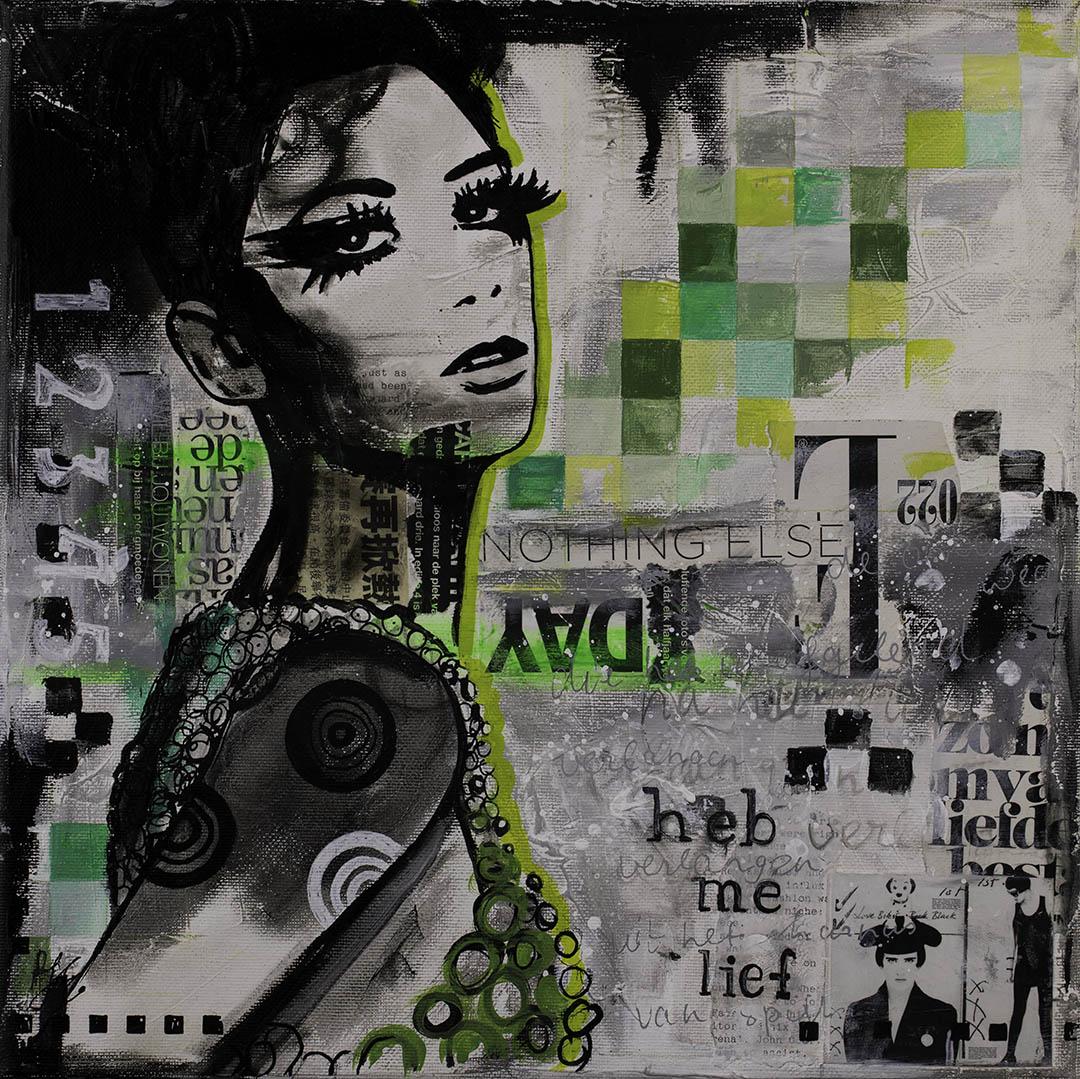 schilderij-zwartwit-vrouw-janetedens-betaalbaar